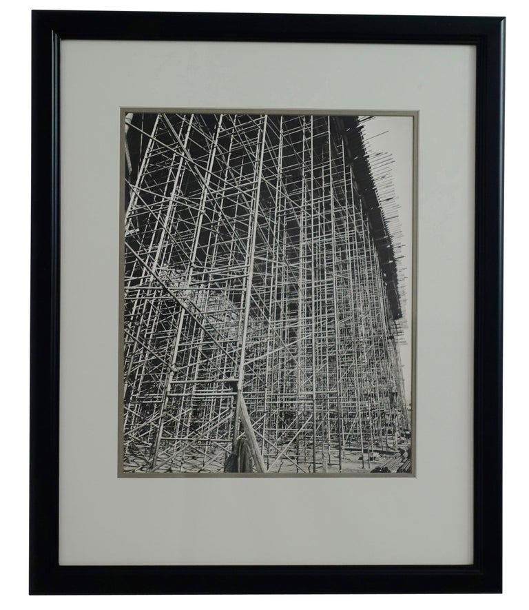 Paper Architectural Industrial Black and White Photograph For Sale