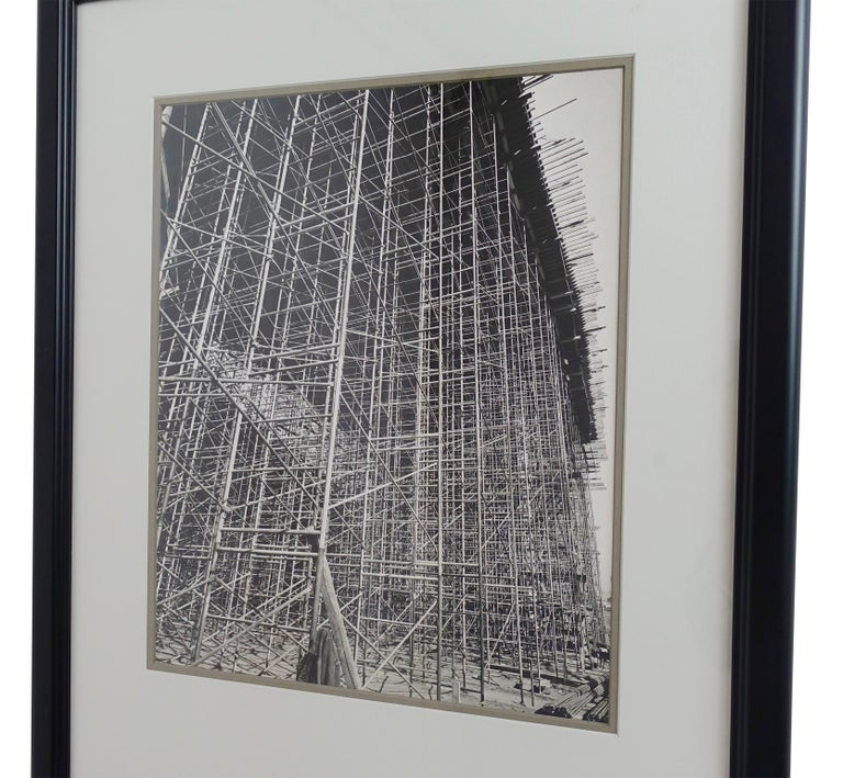 Architectural Industrial Black and White Photograph For Sale 3