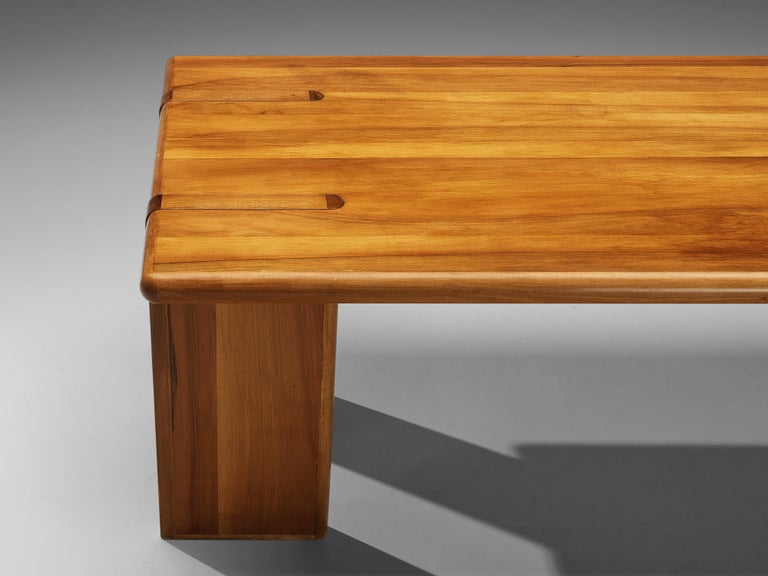 Mid-Century Modern Architectural Italian Dining Table in Walnut For Sale