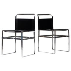 Architectural Leather Strip Chairs