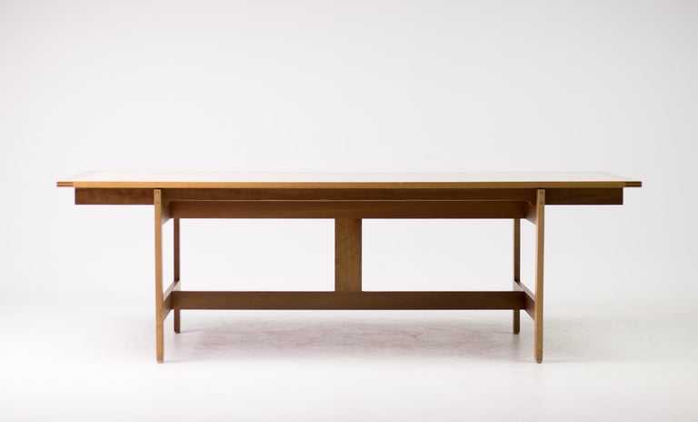 Scandinavian Modern Architectural M40 Dining Table by Henning Jensen & Torben Valeur For Sale