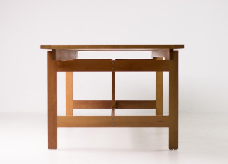 Architectural M40 Dining Table by Henning Jensen & Torben Valeur For Sale 1