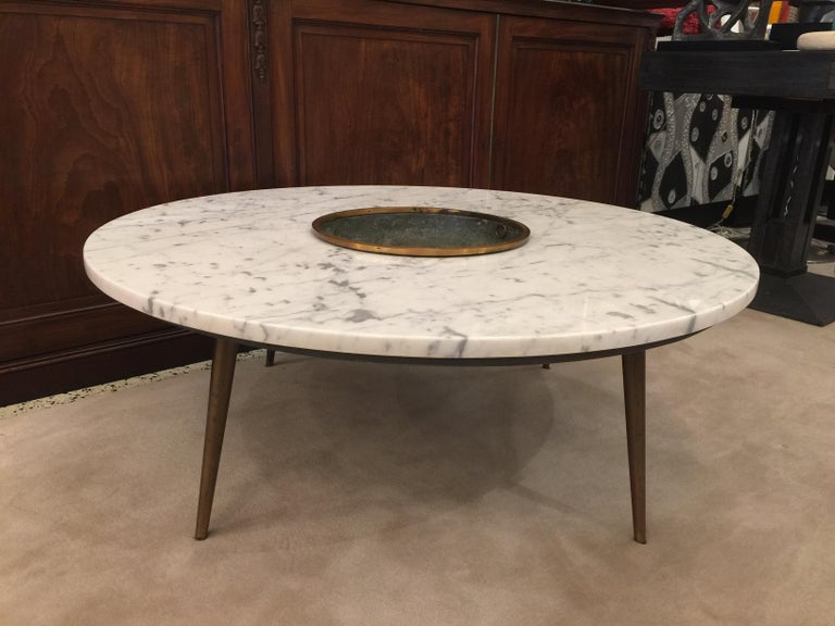 Mid-Century Modern Architectural Midcentury Cocktail Table Central Vessel For Sale