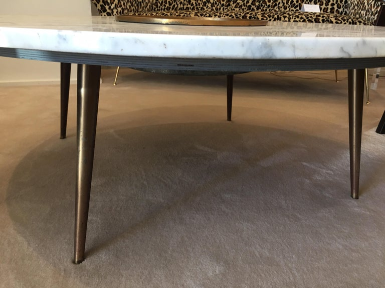 Mid-20th Century Architectural Midcentury Cocktail Table Central Vessel For Sale