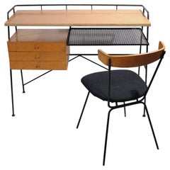 Architectural Mid Century Desk and Chair Attributed to Pascoe