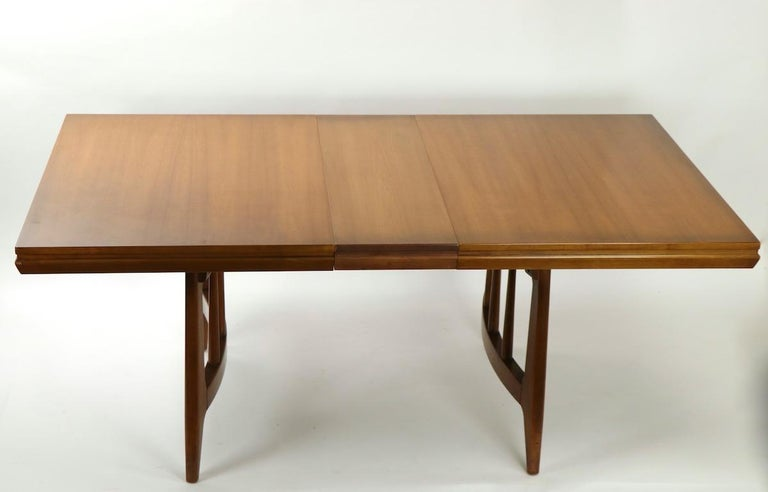 Architectural Mid Century Dining Table For Sale 3