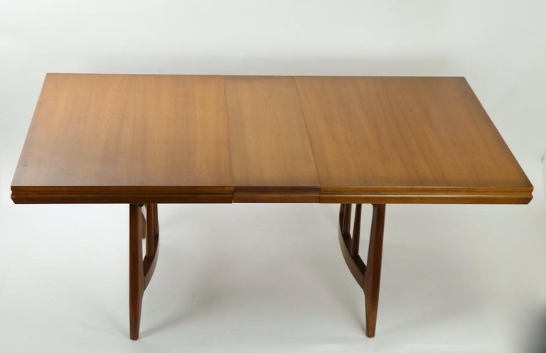 Architectural Mid Century Dining Table For Sale 4