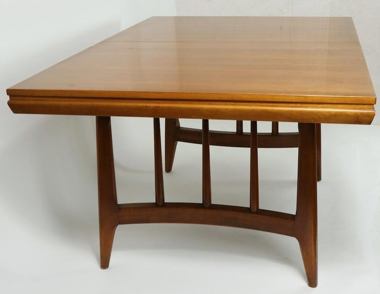 Architectural Mid Century Dining Table For Sale 1