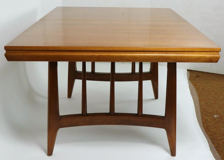 Architectural Mid Century Dining Table For Sale 2