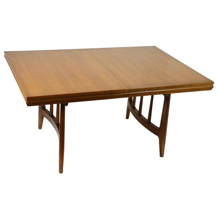 Architectural Mid Century Dining Table For Sale
