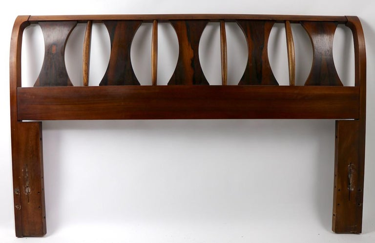 Architectural Mid Century  Headboard Perspecta by Kent Coffey For Sale 6