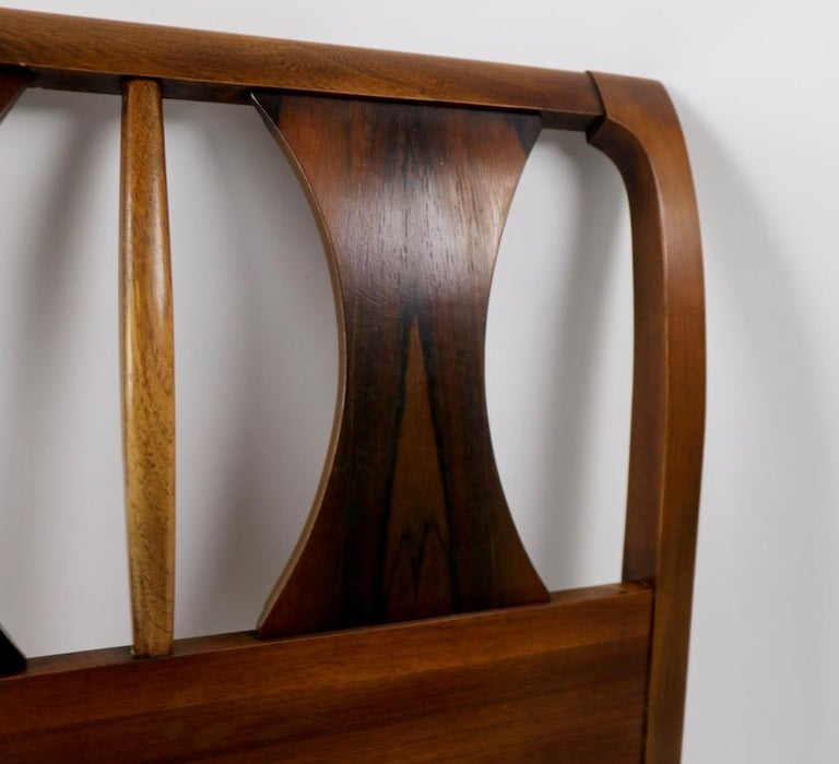 Architectural Mid Century  Headboard Perspecta by Kent Coffey For Sale 7