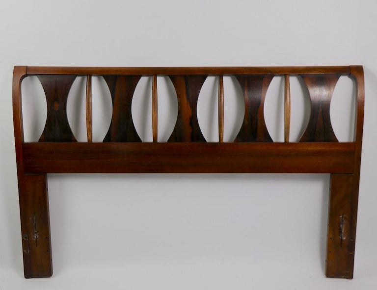 Architectural Mid Century  Headboard Perspecta by Kent Coffey For Sale 10