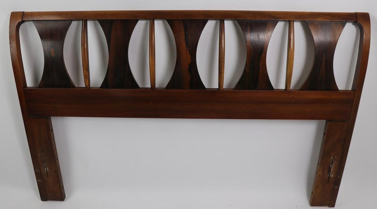 American Architectural Mid Century  Headboard Perspecta by Kent Coffey For Sale