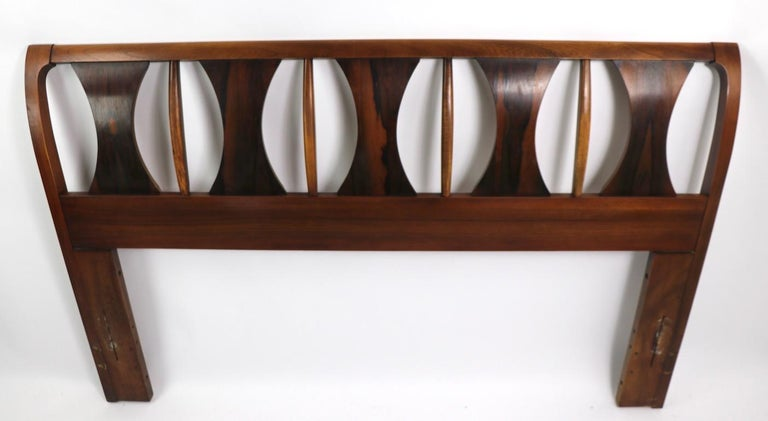 Architectural Mid Century  Headboard Perspecta by Kent Coffey In Good Condition For Sale In New York, NY