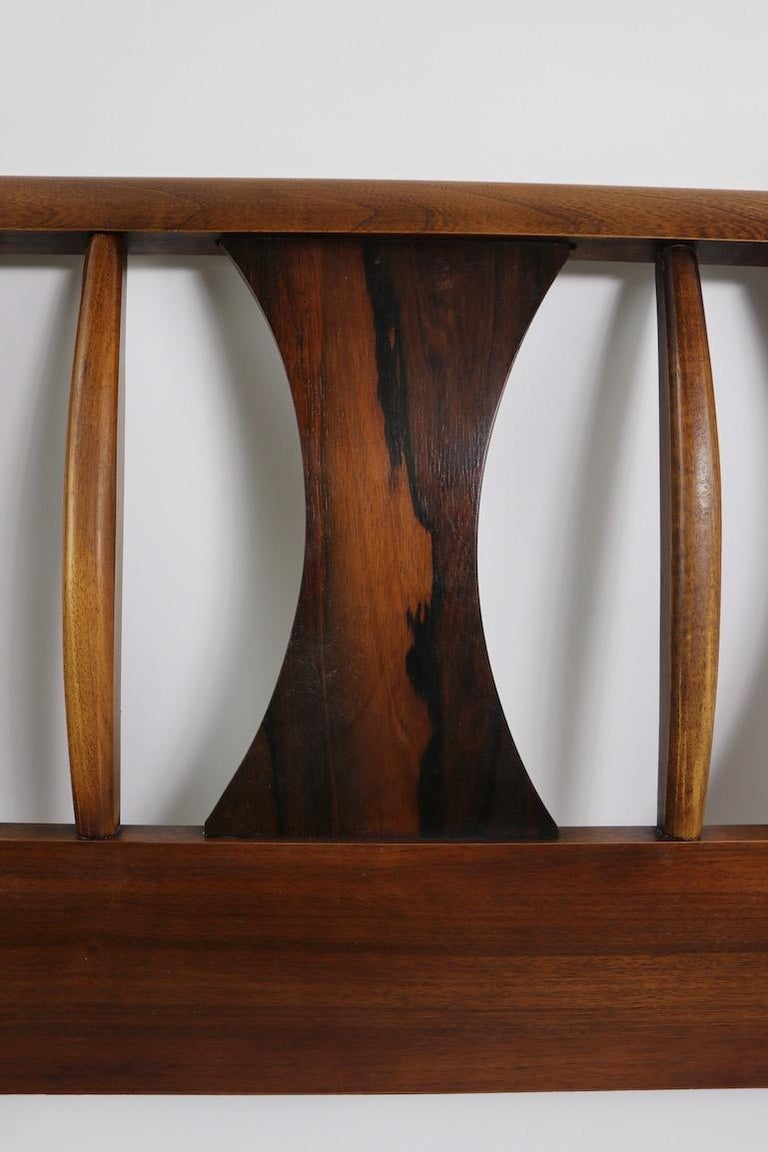 Architectural Mid Century  Headboard Perspecta by Kent Coffey For Sale 1