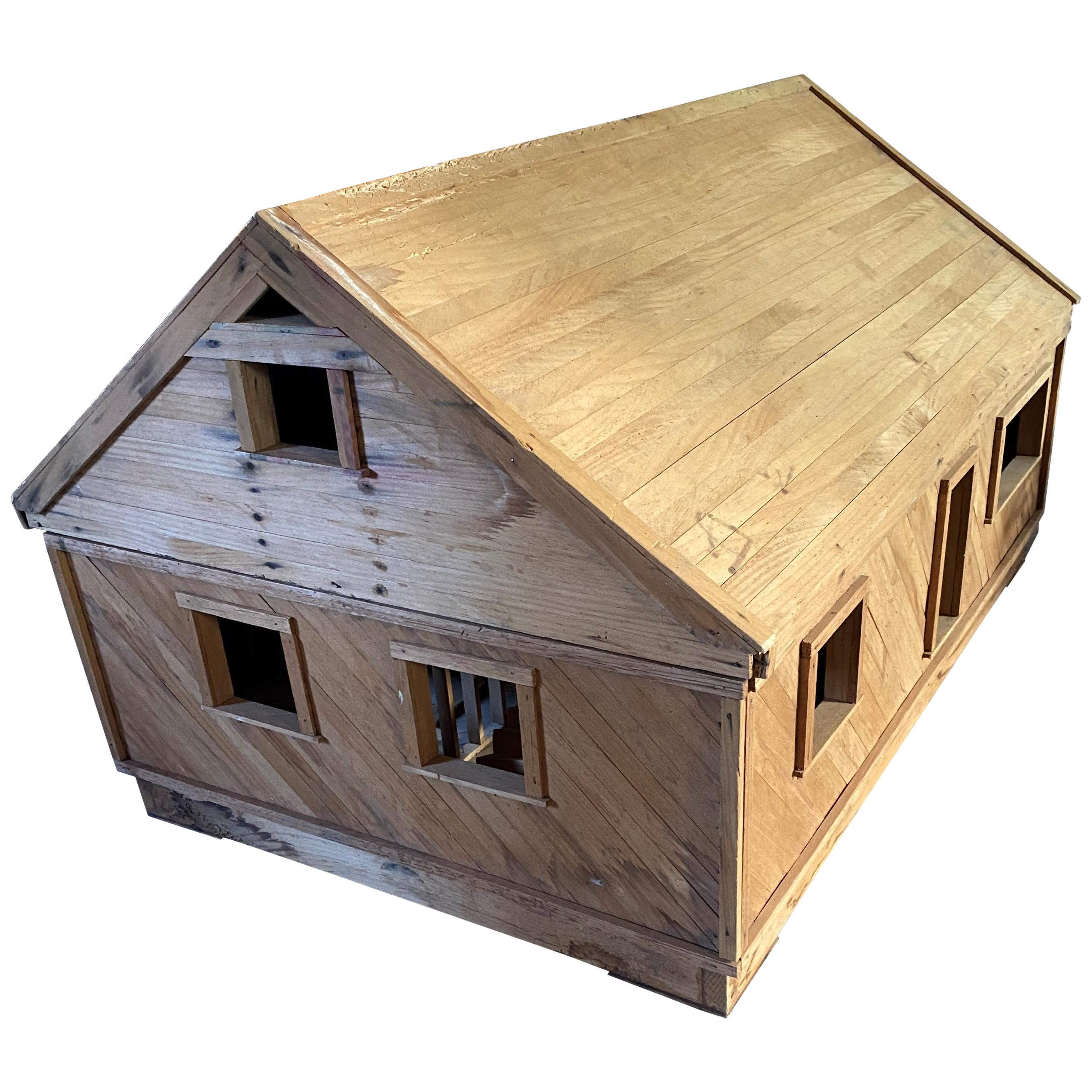 Architectural Model of a Timber Framed House