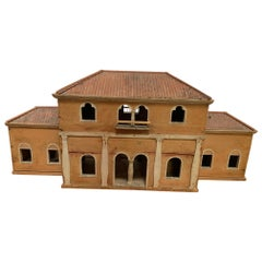 Architectural Painted Wood Model of an Italian Villa