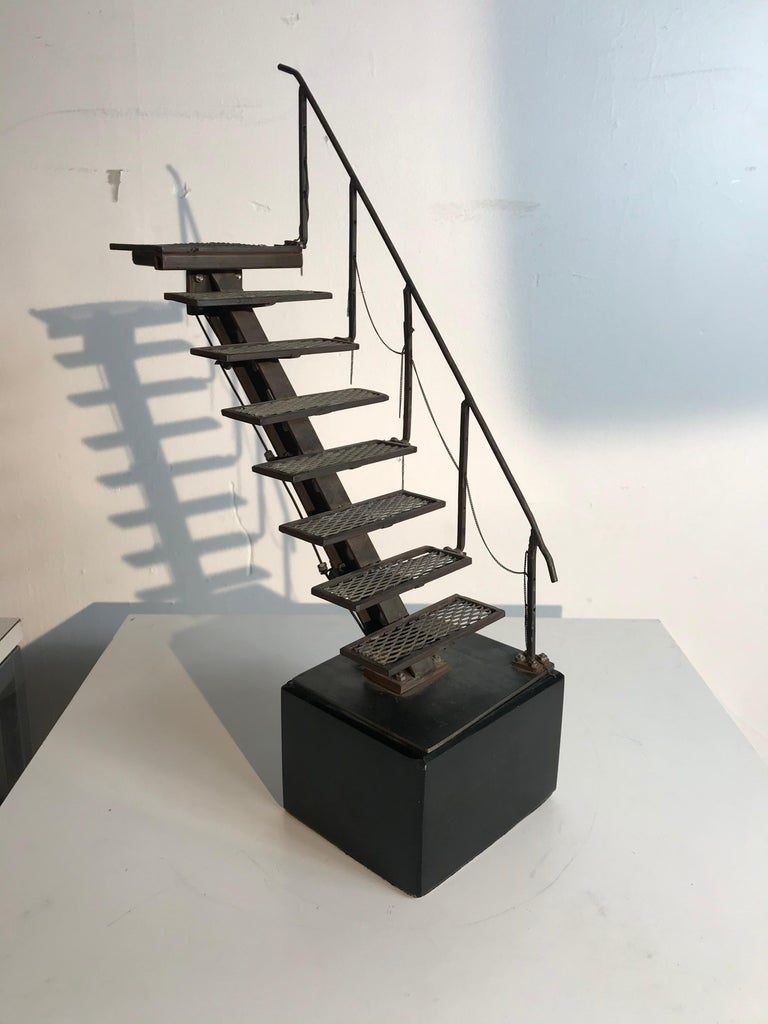 Steel Architectural Model, Artist Handmade Sculpture,