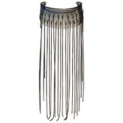 Architectural Modern Acrylic Fringe Statement Necklace