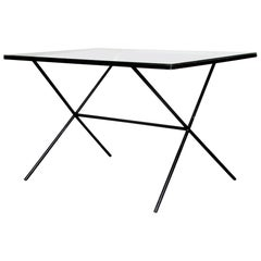 Architectural Modernist Iron Table by Muriel Coleman