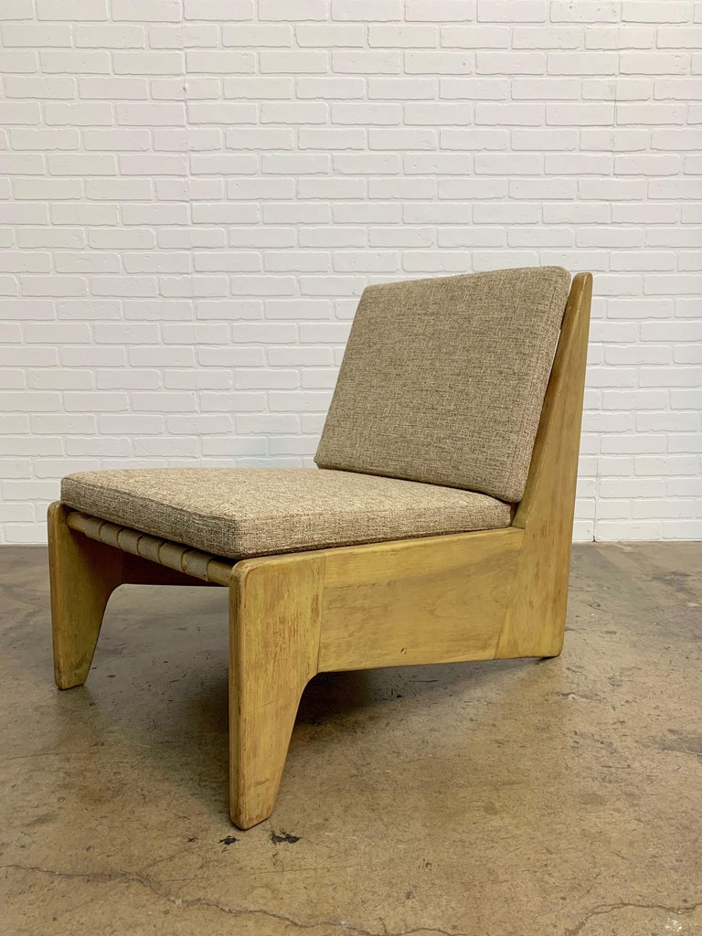 Architectural Modernist Slipper Chair For Sale 3