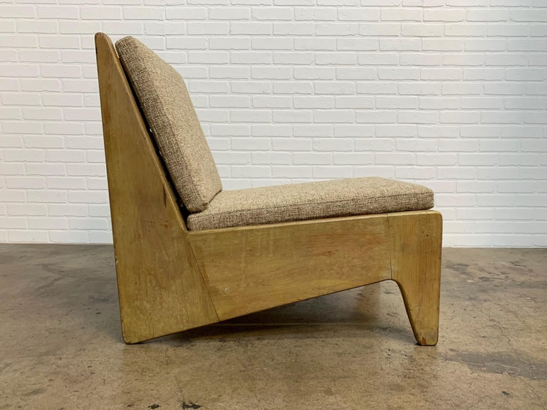 Architectural Modernist Slipper Chair For Sale 5