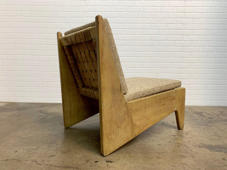 Architectural Modernist Slipper Chair For Sale 6