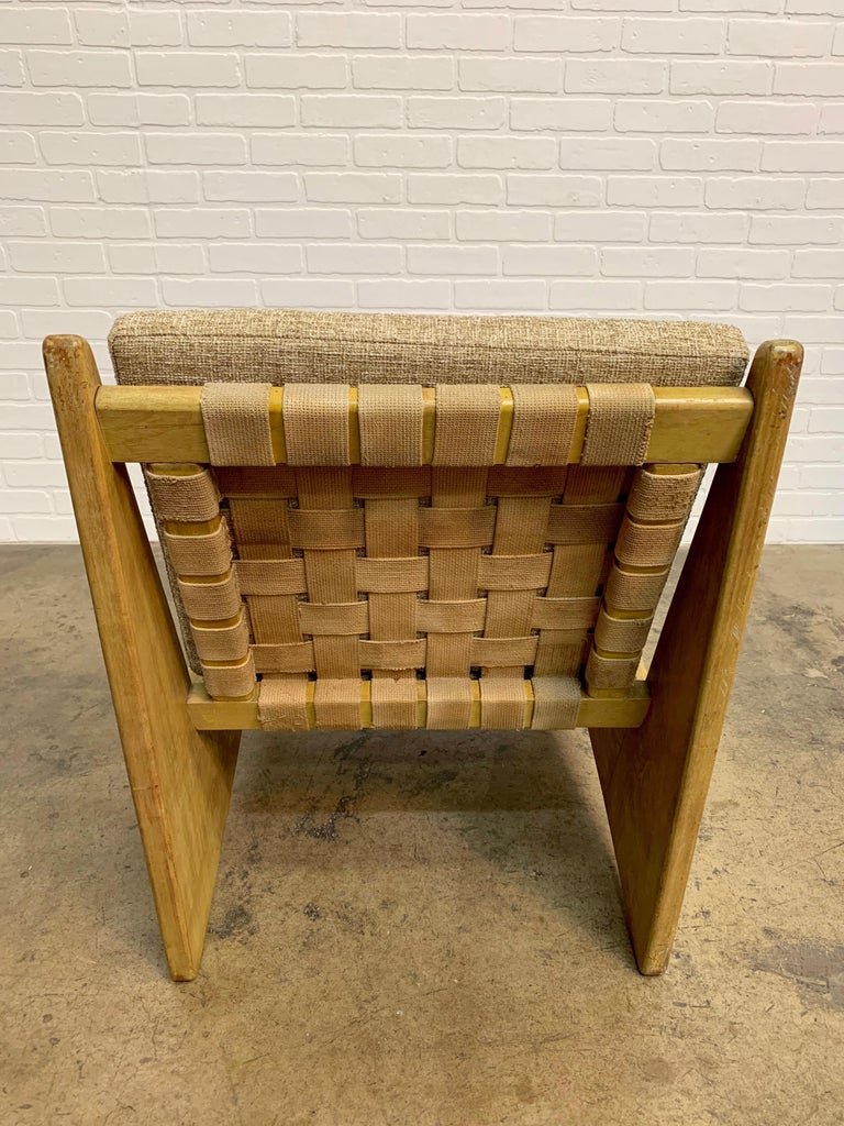 Architectural Modernist Slipper Chair For Sale 7