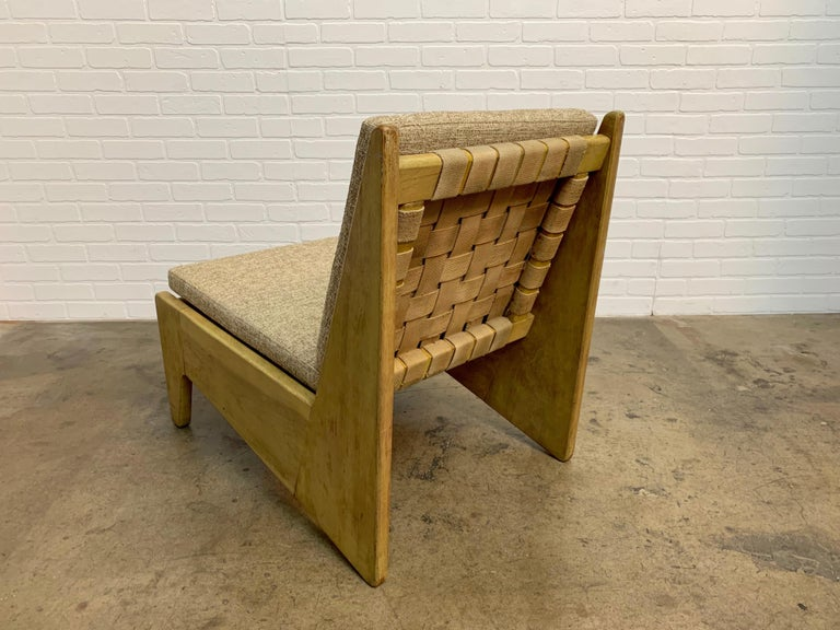 Architectural Modernist Slipper Chair For Sale 8