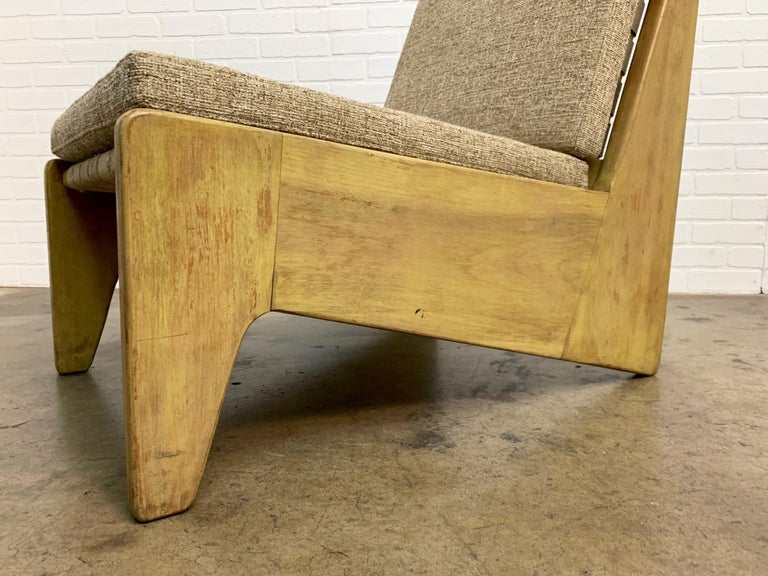 Architectural Modernist Slipper Chair For Sale 10