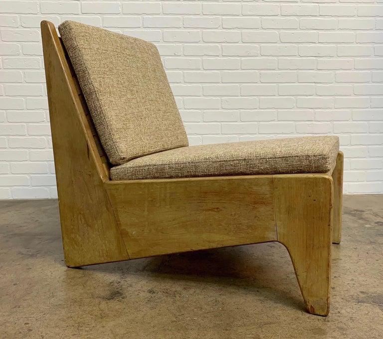 Architectural modernist slipper lounge chair by Craftsman's Village.
