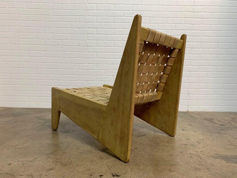 Mid-Century Modern Architectural Modernist Slipper Chair For Sale