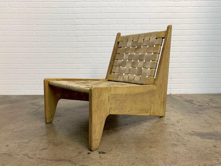 American Architectural Modernist Slipper Chair For Sale