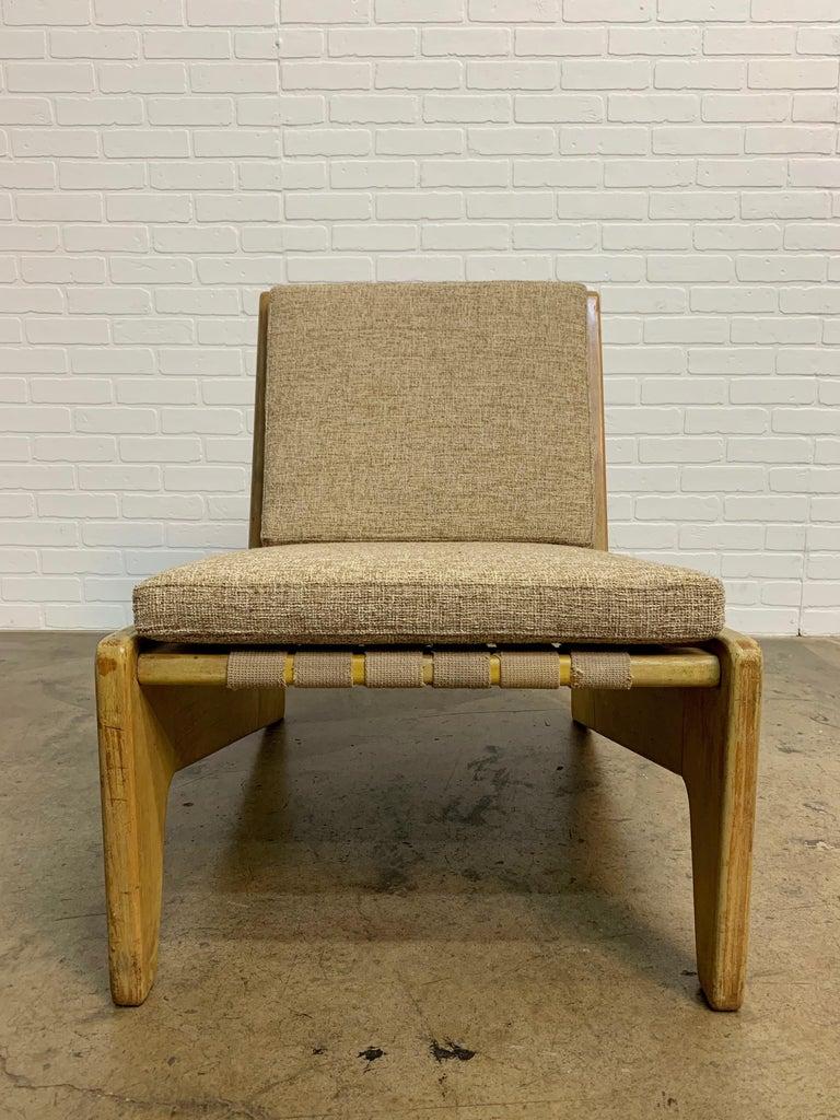 Architectural Modernist Slipper Chair In Fair Condition For Sale In Laguna Hills, CA