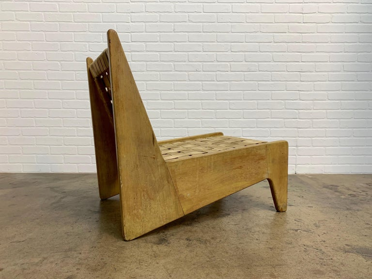 20th Century Architectural Modernist Slipper Chair For Sale