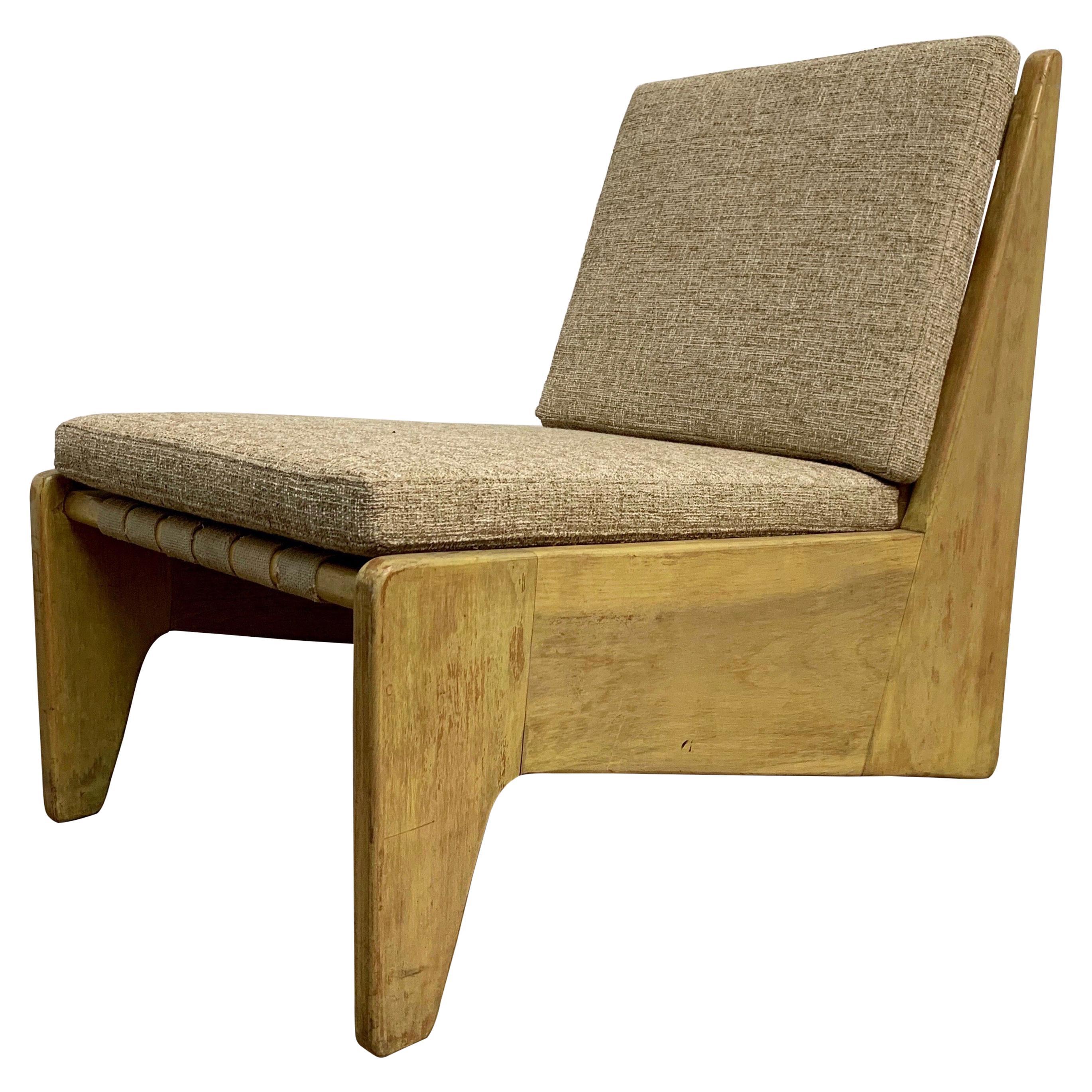 Architectural Modernist Slipper Chair