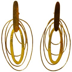 Architectural Oblong Modern  Statement Earrings by Herve Van der Straeten