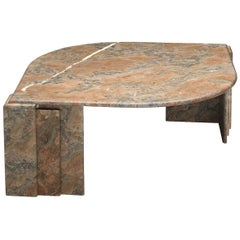 Architectural Oval Coffee Table in Marble
