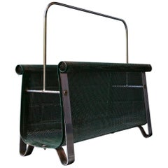 Architectural Perforated Metal Magazine Rack Smith Tepper Sundberg Midcentury