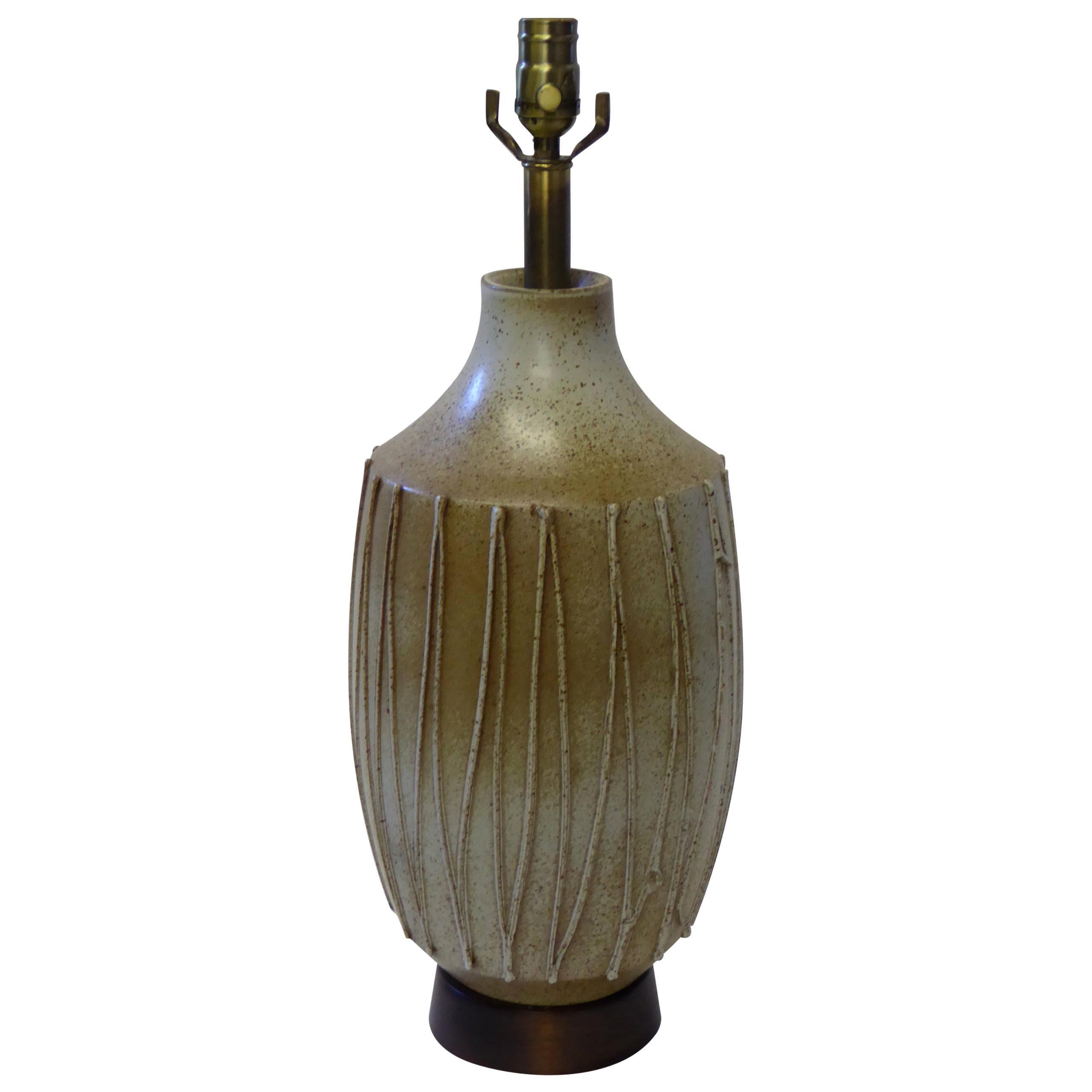 Architectural Pottery Table Lamp by David Cressey California Ceramist, 1960s