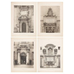 Architectural Prints, Italy, Early 1900s