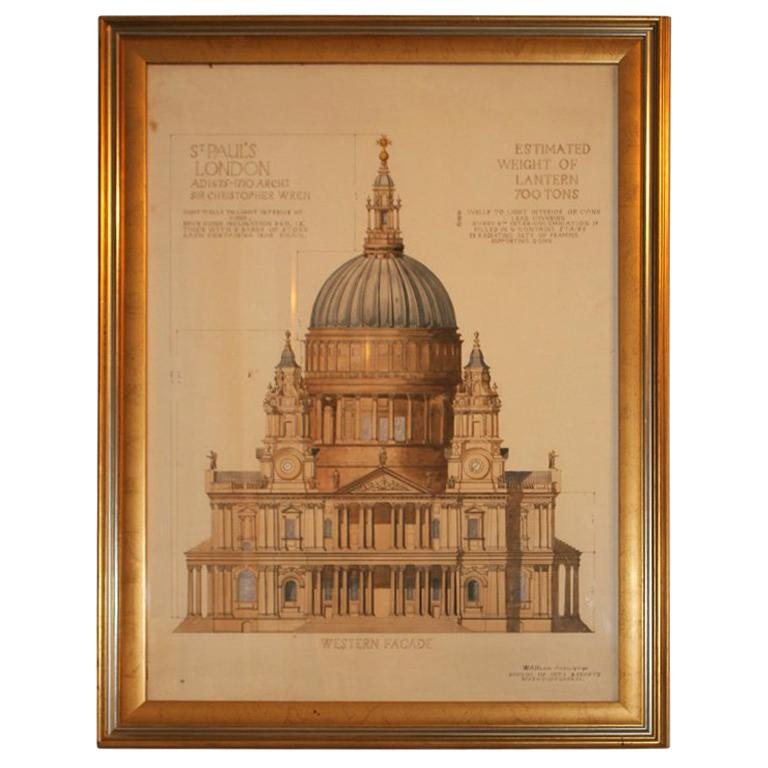 Architectural Rendering:  St. Paul's, London
