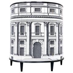 Mid-Century Modern Architectural Scene Italian Cabinet