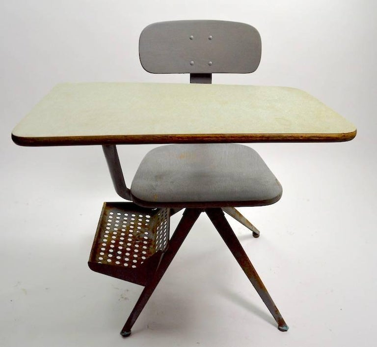 American Architectural School Desk after Prouve