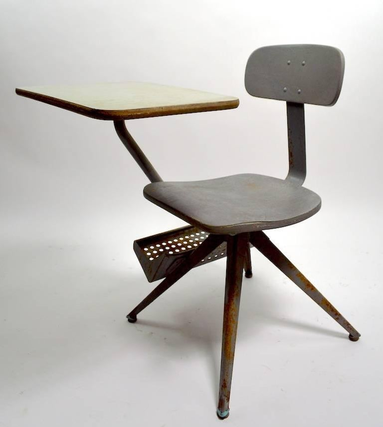 Architectural School Desk after Prouve In Good Condition In New York, NY
