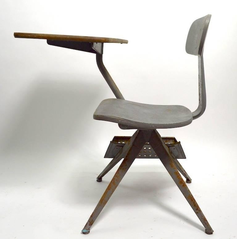 Steel Architectural School Desk after Prouve