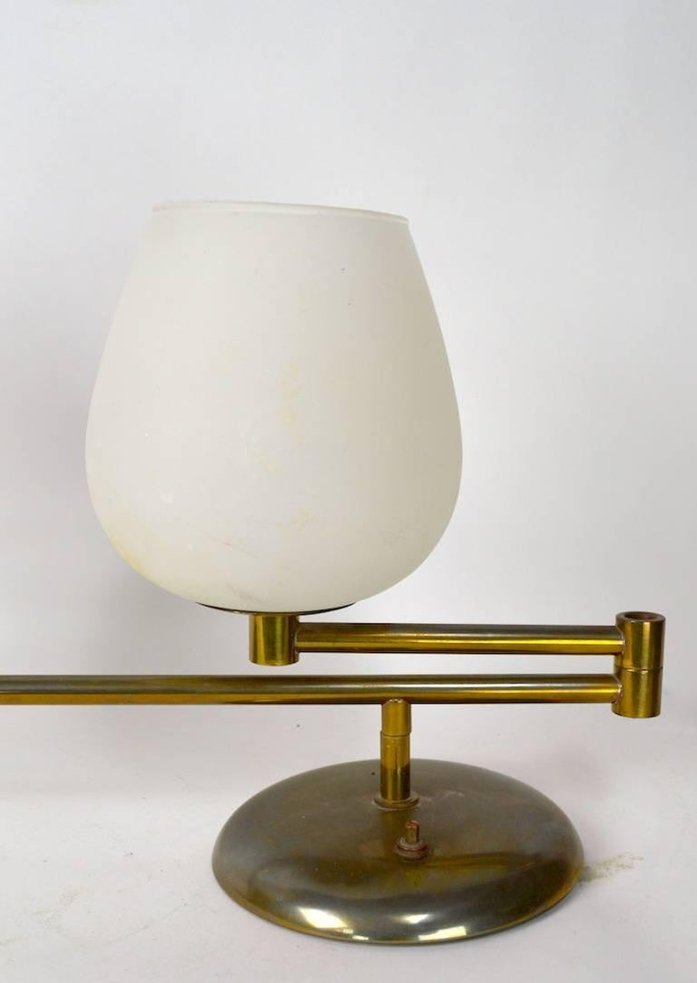 Architectural Swing Arm Desk Lamp For Sale at 1stdibs
