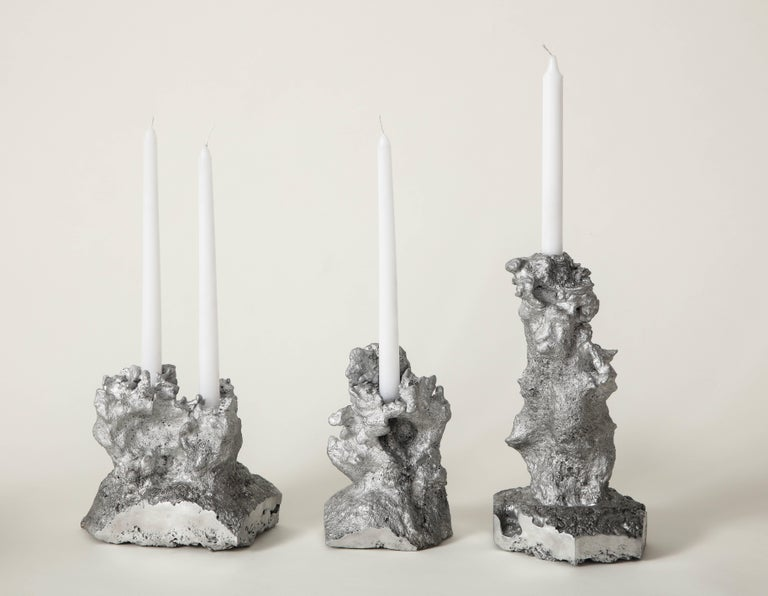 Aluminum Architecture of Song, The Intern Candleholder by The Principals and Angel Olsen For Sale