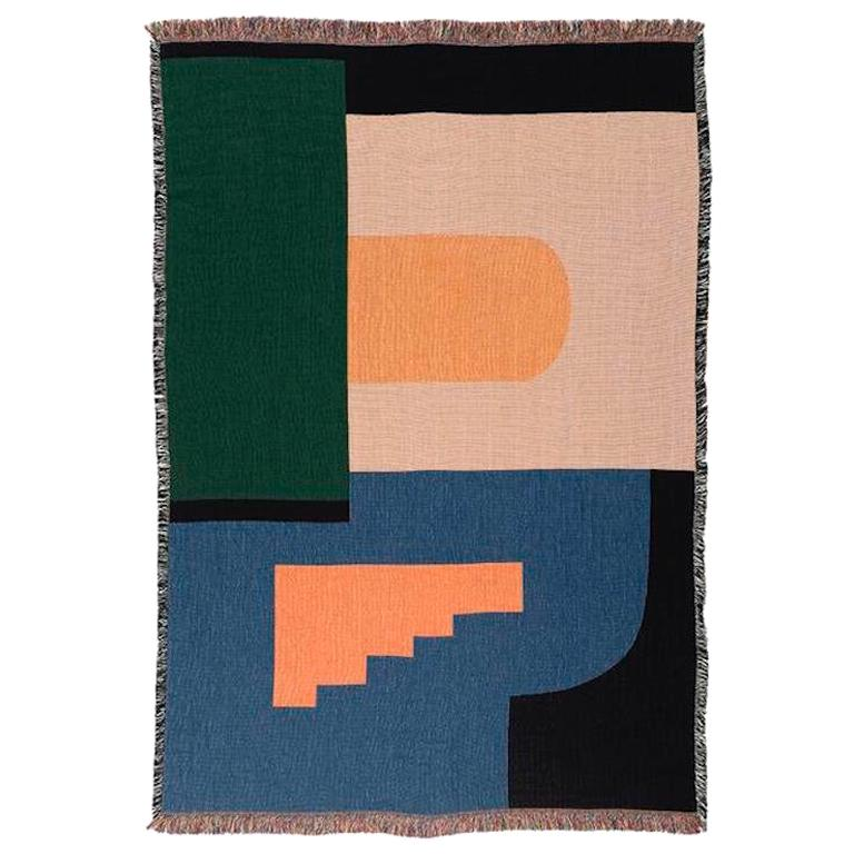 Architecture Woven Throw by Studio Herron For Sale